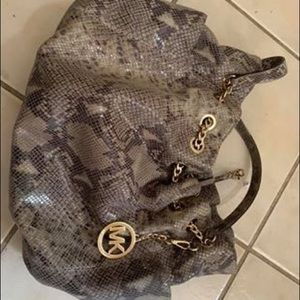 Snakeskin MK purse